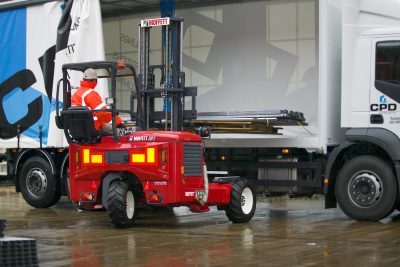 Through flexible Moffett truck-mounted forklifts, the Shamrock Handling Concepts team offers customers creative solutions to logistics challenges, by ensuring deliveries arrive safely on time, in perfect condition and at the most economic price.
